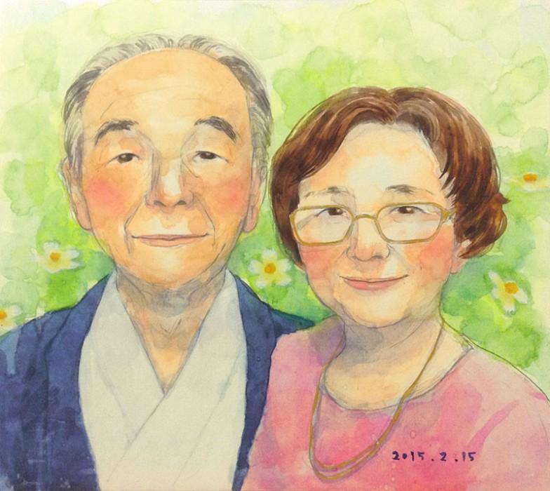 A様ご夫婦の似顔絵