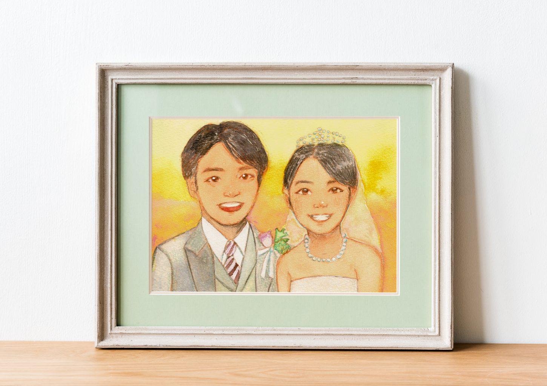 結婚式ウェルカムボード似顔絵(しま かすみ)