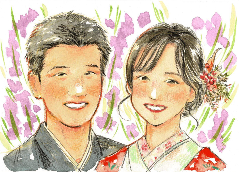 結婚式ウェルカムボード似顔絵(マツムラ メグミ)